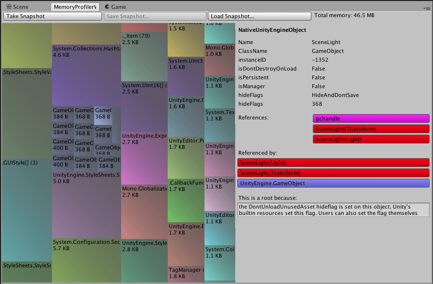 gcmi Memory Profiler
